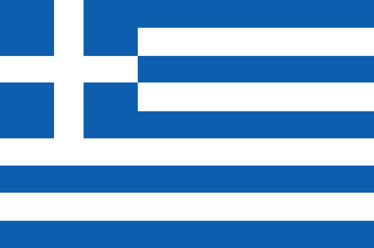 greece, flag, blue